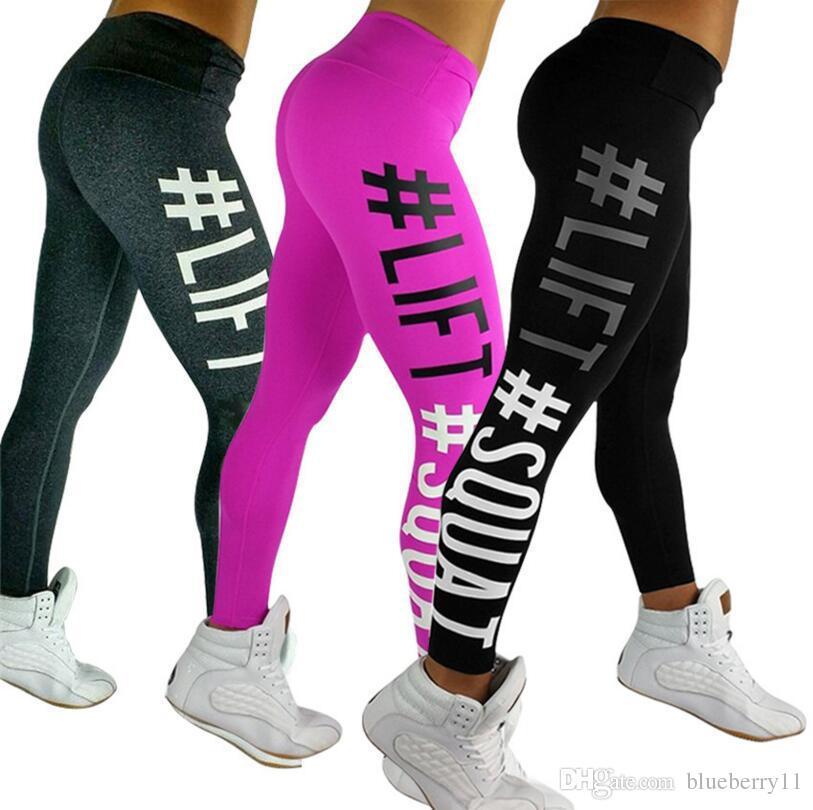 Nueva moda Damas Mujeres Deportes Yoga Ropa deportiva Pantalones Leggings Entrenamiento Correr Pantalones Fitness Gris Negro para Mujeres