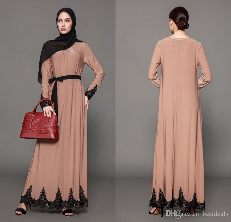 797fc4989194 Khaki Autumn Maxi Dresses Women Long Dresses With Lace Middle East Dubai  Dress Arabic Plus Size Formal Gowns FS2515 Summer Dresses Maxi Dress From  Bestdeals ...