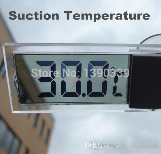 by DHL FEDEX Osculum Type car suction mini portable Temperature gauge temp measure digital LCD display celsius Thermometer