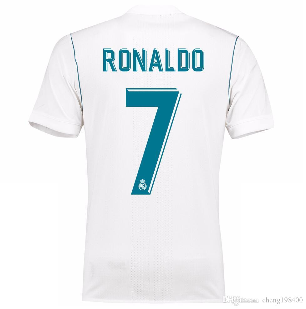 53e65afa223 2019 New Real Madrid Home White Soccer Jersey 17 18 Real Madrid Soccer Shirt  2018 Ronaldo Bale Football Uniforms Asensio Isco Kroos Sales From  Cheng198400