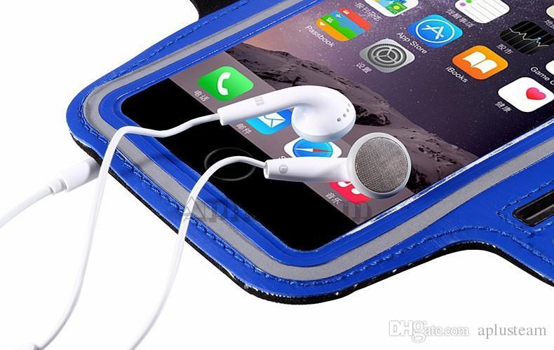 Para iphone 7 esporte correndo braçadeira caso maleta de suporte de treino antiestático tampa do saco do telefone à prova d 'água para iphone 7 plus 6 s samsung s7 s6