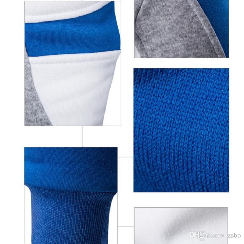 Мода 2017 осень новый полосатый свитер мужчины поло Марка лоскутное свитера пуловер с длинным рукавом высокое качество кашемировый свитер мужчины WY02 РФ