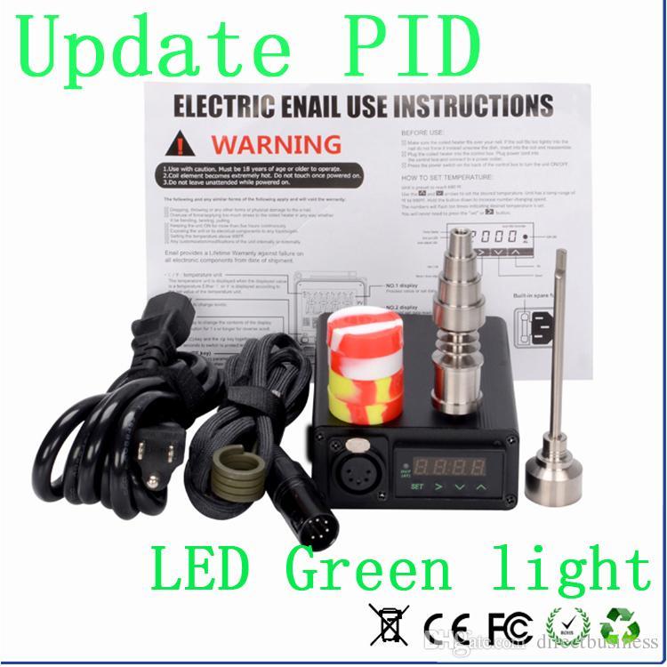 Nail Kit Update 2016 Digital Electronic Nail Kit WAX Vaporizer Dry Herb PID Temperature Control Box E Cigarettes Vaporiz