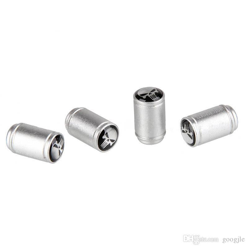 4 Pçs / lote Elegante Liga de Alumínio Universal Crânio Tampas Da Válvula Do Pneu Da Roda de Cabeça de Carro Tampas de Válvulas de Válvula de Roda do carro styling