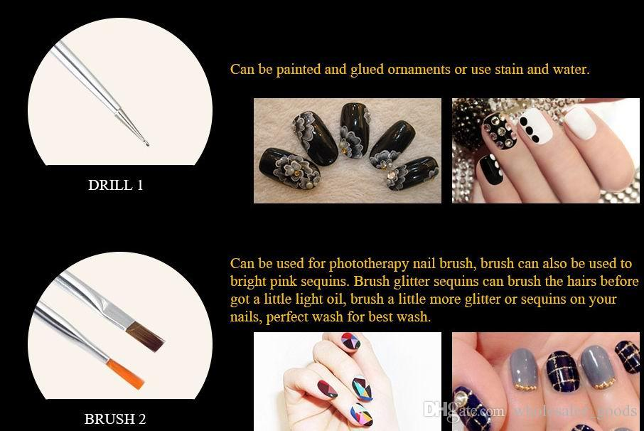 bellezza nail art design set da disegno pittura pittura disegno pennello lucido nail art design gel pittura disegno disegno penna penna smalto set