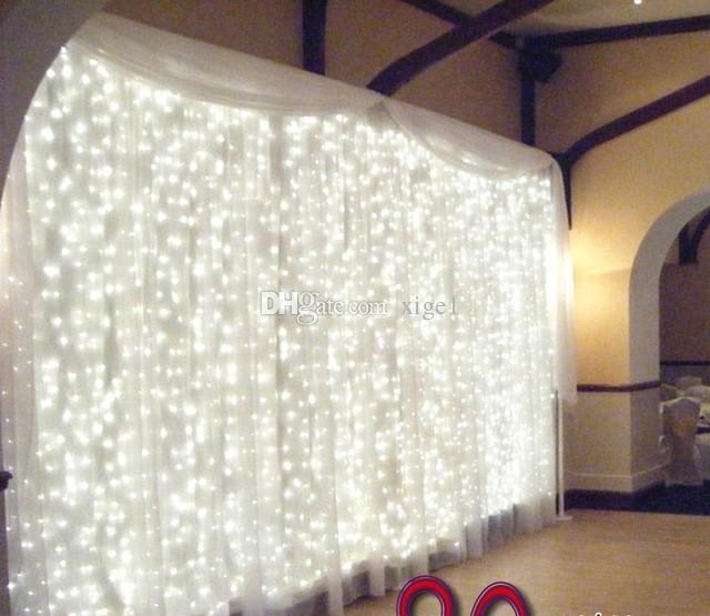 Le rideau de toile de fond de mariage de décoration de mariage incluent les lumières de ficelle de LED Le prix le moins cher