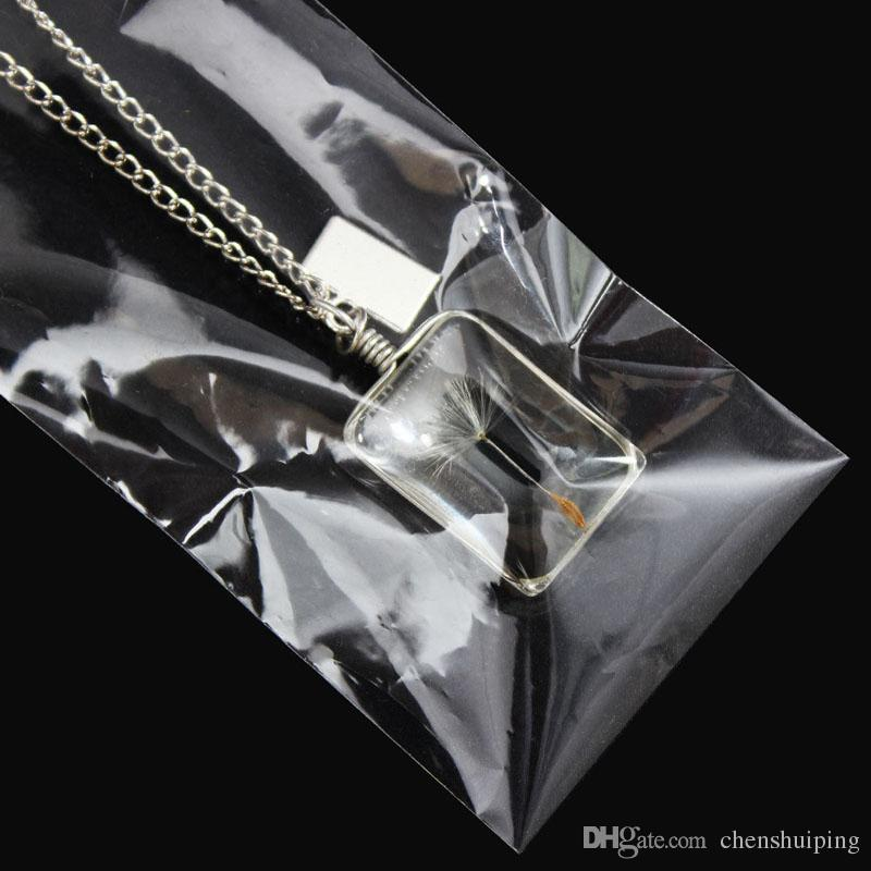 Подвески Желаю Настоящее Ожерелье Семена Одуванчика цветок кулон женщины Ювелирные изделия любовь завод сплава цепь ленты свитер подарок