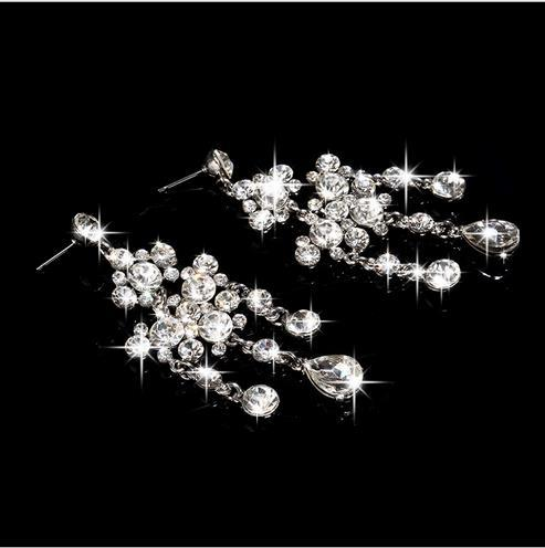 2017 neue Bestseller Braut Halskette + Ohrringe, zwei Sätze von Strass Blumen, neue Schmuck, Hochzeit Schmuck, TL009