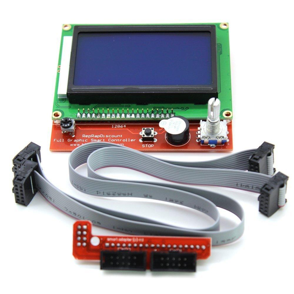 Lcd 12864 Version Graphic Smart Display Controller Module With 3d Printer Photoelectric Stop Limit Switch Endstop Buy Adapter And Cable For Ramps 14 Reprap Kit