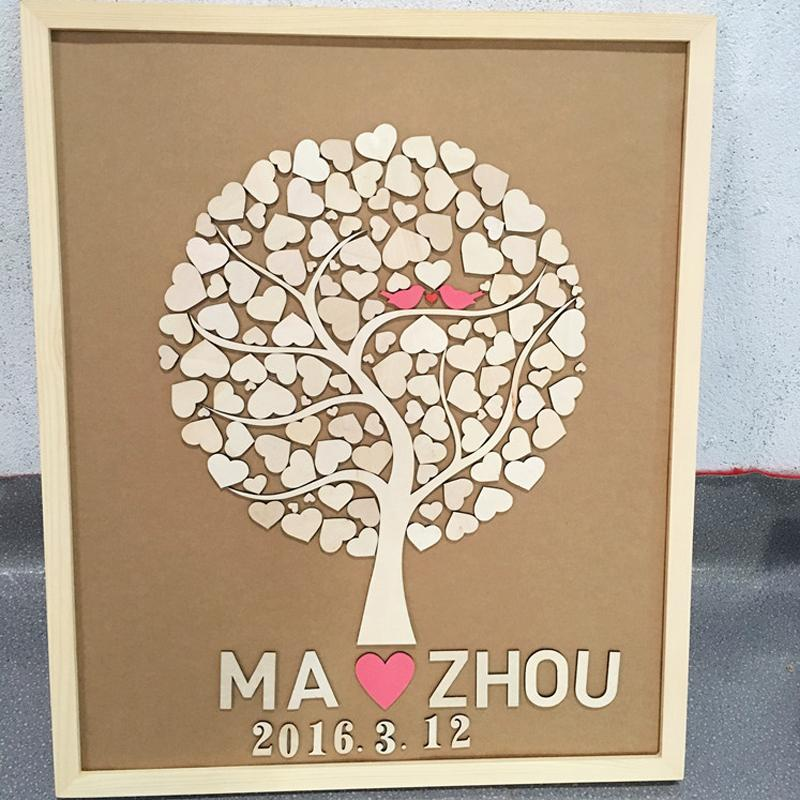 2018 Custom Wedding Guest Book Alternatives Wedding Tree Guest ...