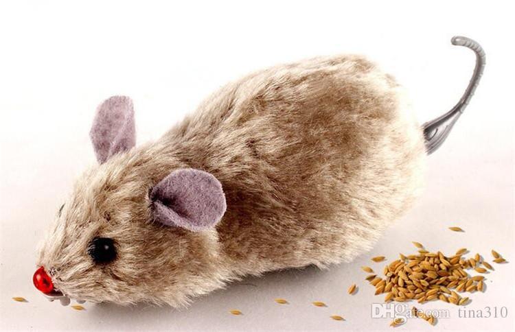 Borracha NOVO rato pequeno brinquedo de ruído brinquedos Som Squeak Rat Falar Jogando presente para o gato do gatinho Jogo 6 * 3 * 2,5 centímetros IB282