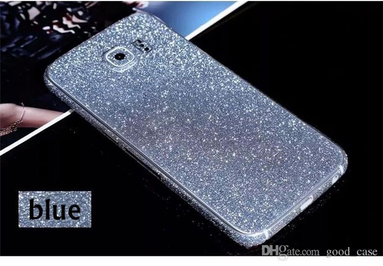 Full Body Glitter bling Screen Protector Sparkle shimmer Whole Film Skin Shinny Sticker front Back for iPhone 4 4S 5 5S 6 6 7 plus