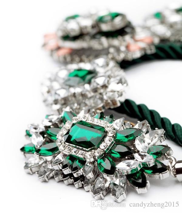 Europa Mode schlüsselkette kurze DIY handgemachte Halskette Klassische Bankett Strass Halskette für Party / Tanzen / Clube Top Qualität