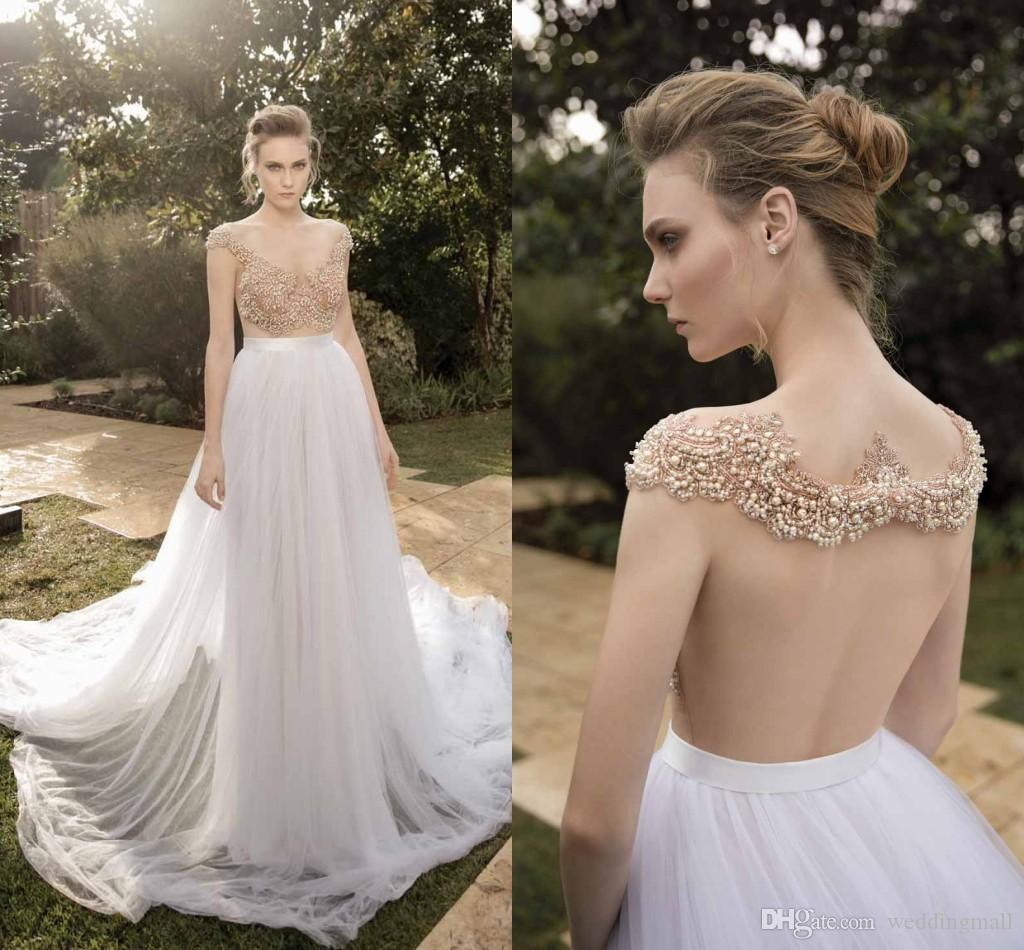 Großhandel Mimi Blick Durch Backless 2016 Arabische Brautkleider ...