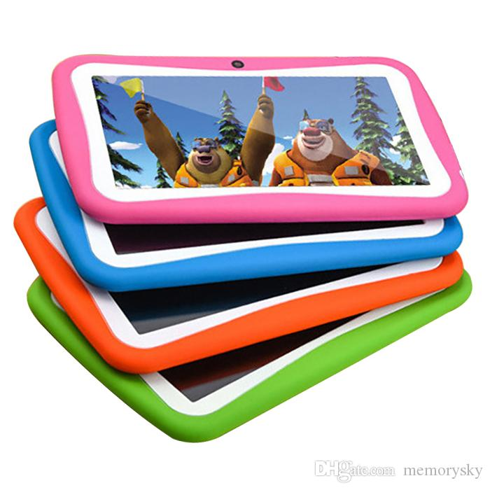 Kids Tablet PC Android 512MB+8G ROM WiFi Quad Core 1.5GHz CPU RK3126 kids Educational Play tablet HD 1024x600 IPS Dual Camera