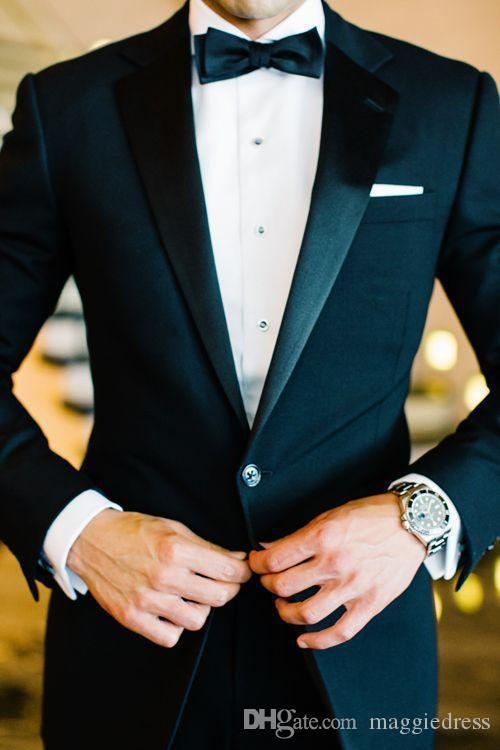 2016 One Button Side Slit Classic Fit Notch Risvolto Smoking dello sposo Groomsman Suit Vestito da festa di matrimonio (Giacca + Pantaloni + Papillon + Cintura)