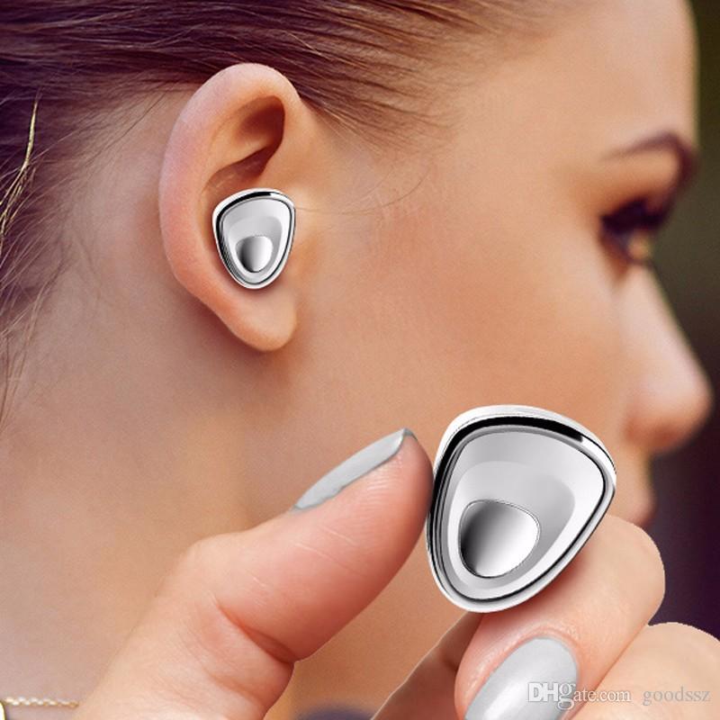 Nuovi Mini6 Auricolari Bluetooth senza fili Lady's Fashional Mini Auricolari vivavoce invisibili Auricolari con MIC Noise Cancelling cellulare