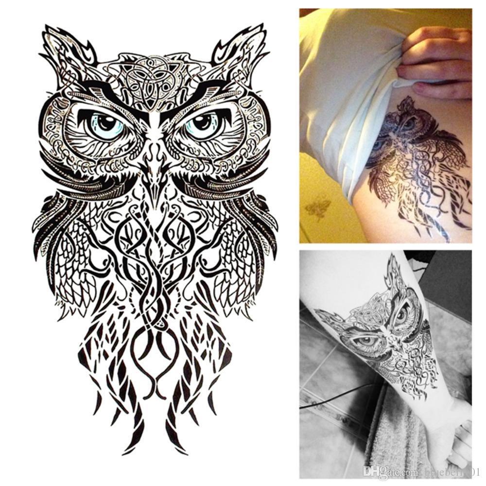 Acheter Vente En Gros Yeux Bleus Hibou Tatouage Temporaire Art
