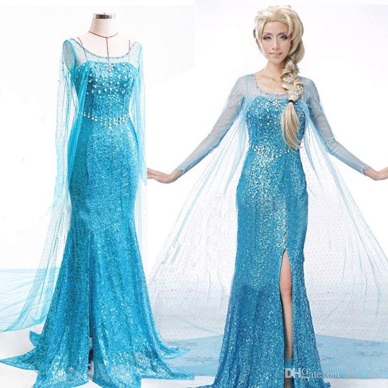 2018 Prettybaby Rhinestone Elsa Costume Adult Princess Elsa Dress For Women Snow Queen Cosplay Party Formal Dress Elsa Fancy Dress From The_one ...  sc 1 st  DHgate.com & 2018 Prettybaby Rhinestone Elsa Costume Adult Princess Elsa Dress ...