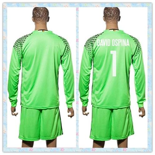 71025a233 ... 2017 fast uniforms kit 2016 colombia 1 david ospina green goalkeeper  soccer jersey long sleeve jerse