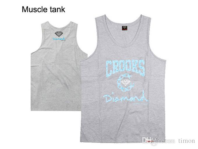 diamond supply co tank tops muscle brand new 2016 hip hop tank tops men's sleeveless vest hiphop shirt