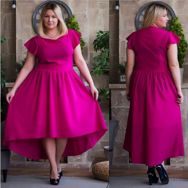 6xl Plus Size 2016 New Style Summer Dress Fashion Korean Lotus Leaf