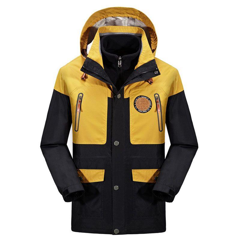 8d0088d0859c6 2019 Men 3 In 1 Jacket Hiking Climbing Waterproof Windproof Jackets Men  Winter Fleece Outdoor Jacket Sport Camping Coat Plus Size 5XL From  Yymq0404