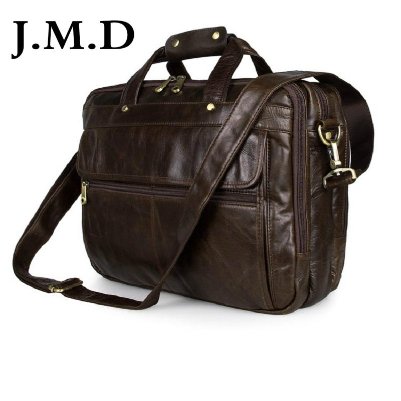 bc4b0fa771d6 Wholesale- J.M.D Guarantee Genuine Cow Leather Men s Briefcases ...