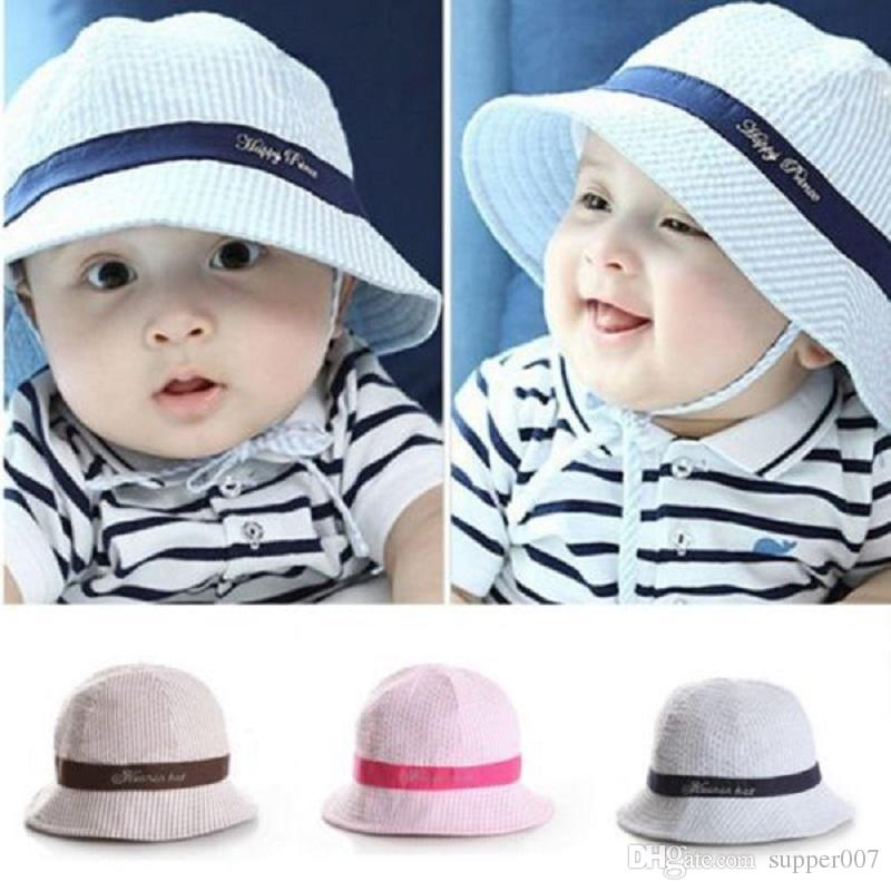 4cb3bc6b8f28 Toddler Infant Baby Boys Girls Sun Cap Summer Outdoor Hats Sun Beach Bucket  Beanies for 6-24 Months High Quality Hat Fur China Hat Wrap Suppliers Cheap  Hats ...