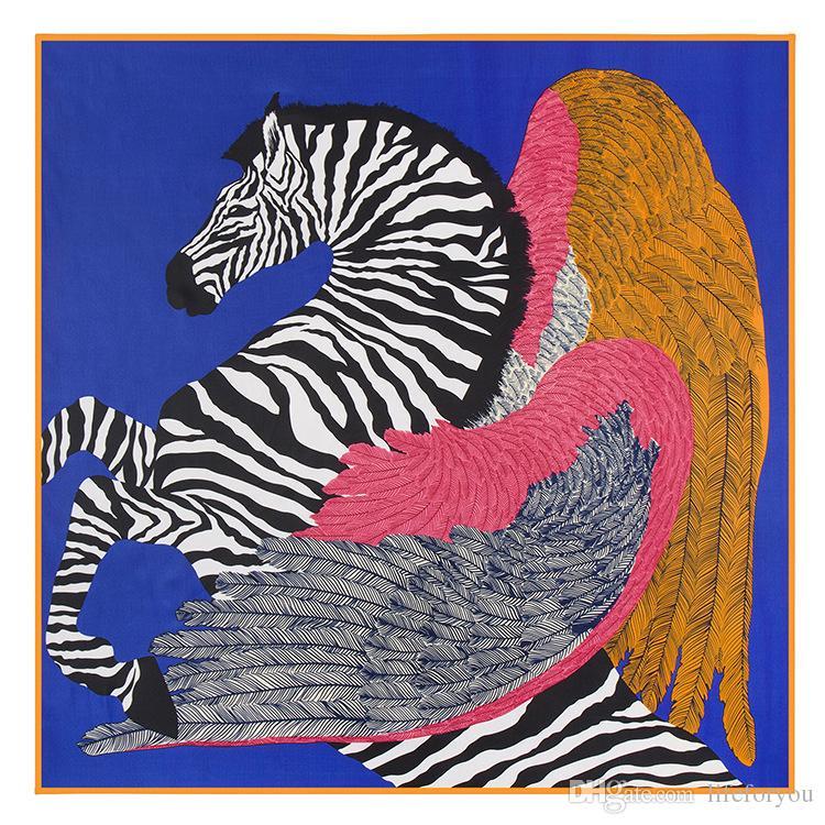 House Wings Printing Scarf Kerchief fashion Scarves women ladies top grade muffler long Silk Chiffon Bandanna Wrap Shawl