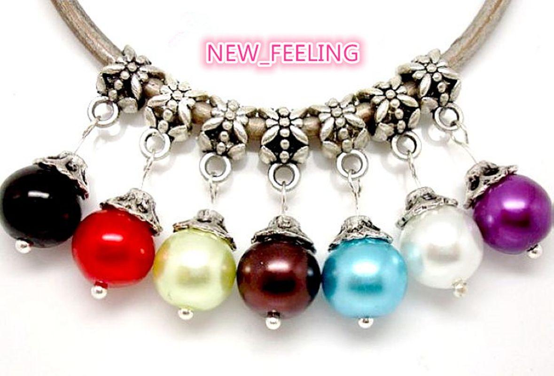Wholesale Mixed Style Crystal/Rhinestone Beads/Bells Dangle Pendants fit European Bracelet & Necklace DIY Jewelry Making