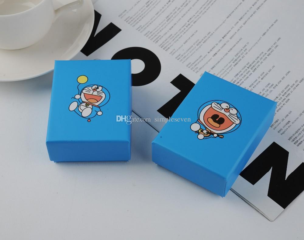 [Simple Seven] 24 قطعة / الوحدة Sky Blue Jewelry Box ، صندوق عبقور سوار ، حزمة قلادة هزلية جميلة ، الكرتون قلادة حالة