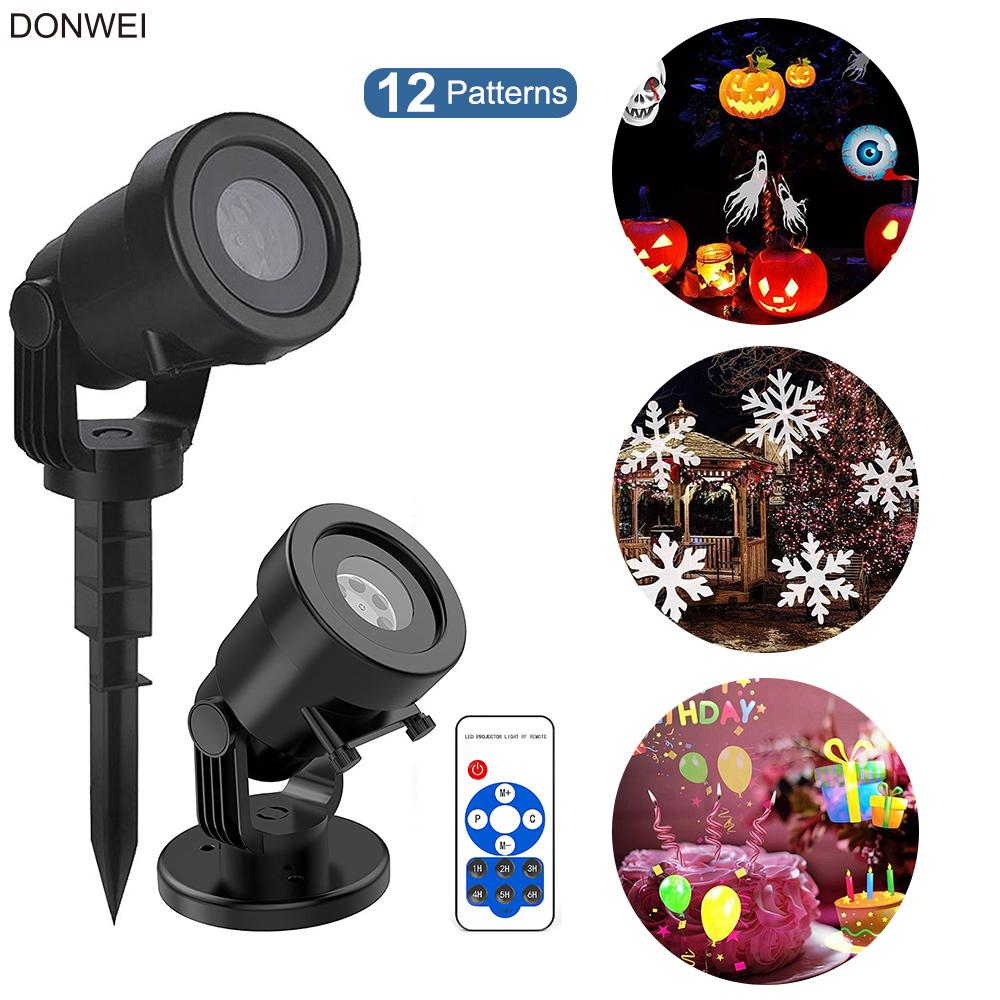 Wholesale Home Holiday Decor Stage Lights Remote 12types Christmas ...