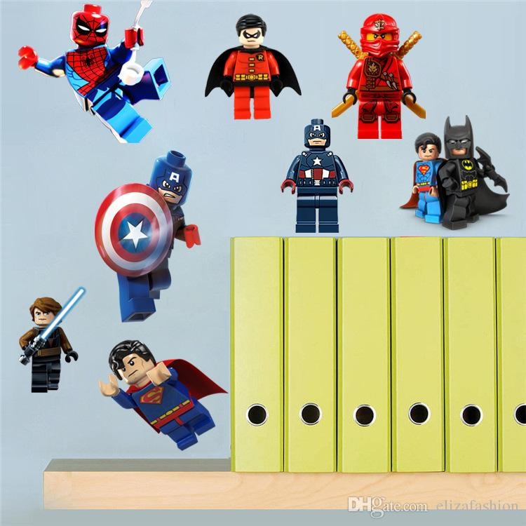 Avengers Lego D Wall Stickers Decals Art For Baby Nursery Room - Lego superhero wall decals