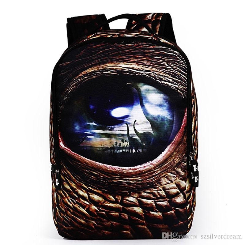5a3db1f91a 2016 3D Visual Effect Backpacks Bag Leisure Outdoors Men Women Backpack  Polyester Fabric Student Ipad Cell Phone Laptop Backpack For Boys School  Backpacks ...
