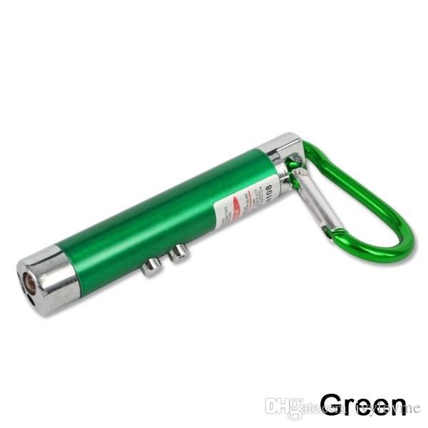 미니 손전등 Carabiner 키 체인 미니 3 in1 멀티 컬러 LED 키 체인 미니 손전등 빨간 레이저 포인터 손전등 미니 돈 탐지기