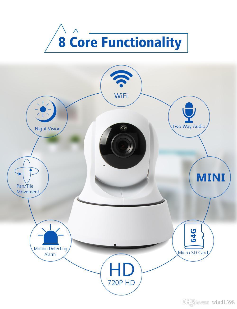 핫 판매 HD 720p 1.0MP PTZ WiFi IP 카메라 IR 차단 나이트 비전 보안 양방향 오디오 미니 CCTV 감시 IP 무선 카메라 응용 프로그램 cam360
