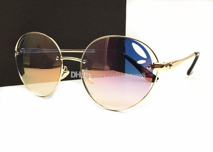 جديد وصول ترف المرأة المعادن الإطار الطيار النظارات الشمسية خمر أزياء النظارات في الهواء الطلق مع مربع الأصلي والحالات
