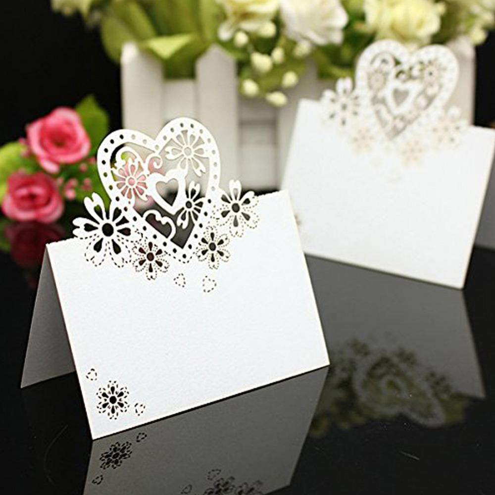 2018 Wholesale Cut Out Skeleton Love Heart Laser Wedding Party Table ...