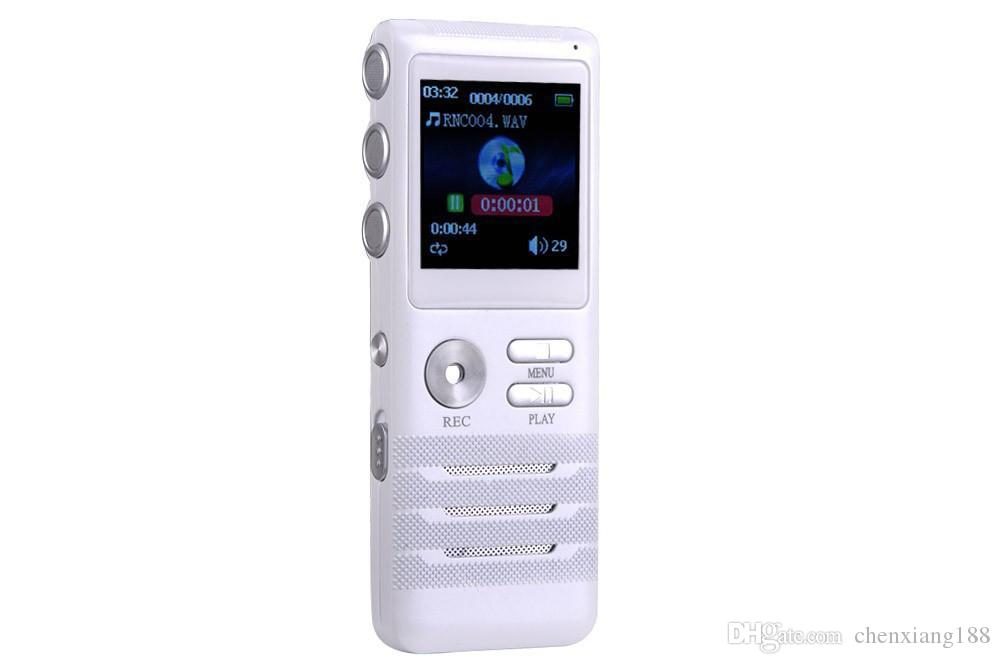 Dual core Stereo Digital Voice Recorder 8GB Audio Recorder MP3 player Build in microphone & Speaker 16GB USB Disk support file delete