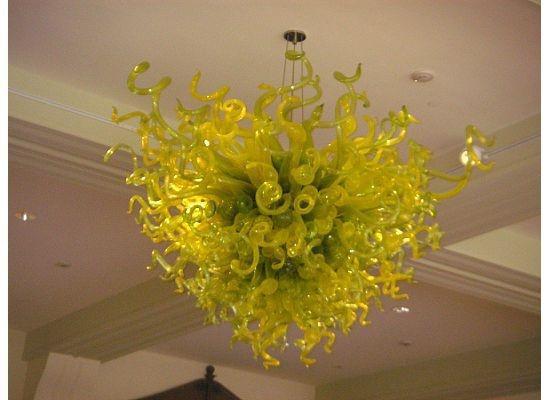 Envío libre Color / Tamaño personalizado CE / UL Certificado de techo bellas artes de cristal luz contemporánea iluminación de la lámpara