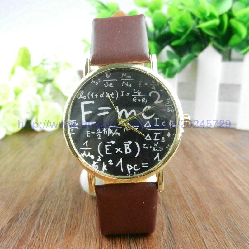 Einstein Watch E=MC2 Equation Watches Vintage Retro Style Unique & Dedicate Perfect for Gift Ideas For Boyfriend