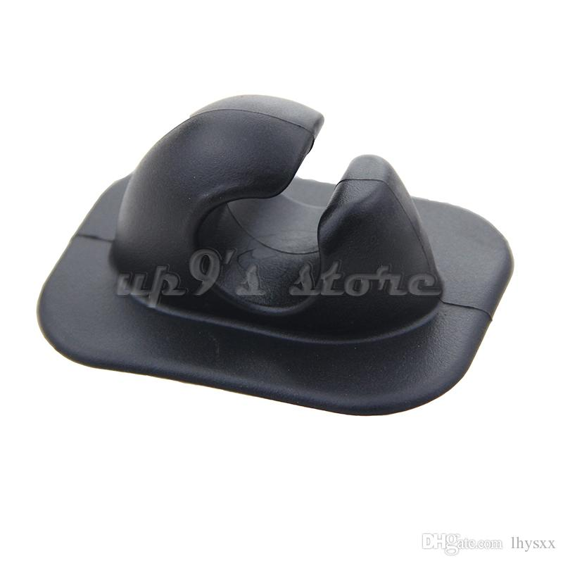 Oar Holder 패치 폴 튜브 클립 카누 풍선 보트 딩 보트 용 회색 검정