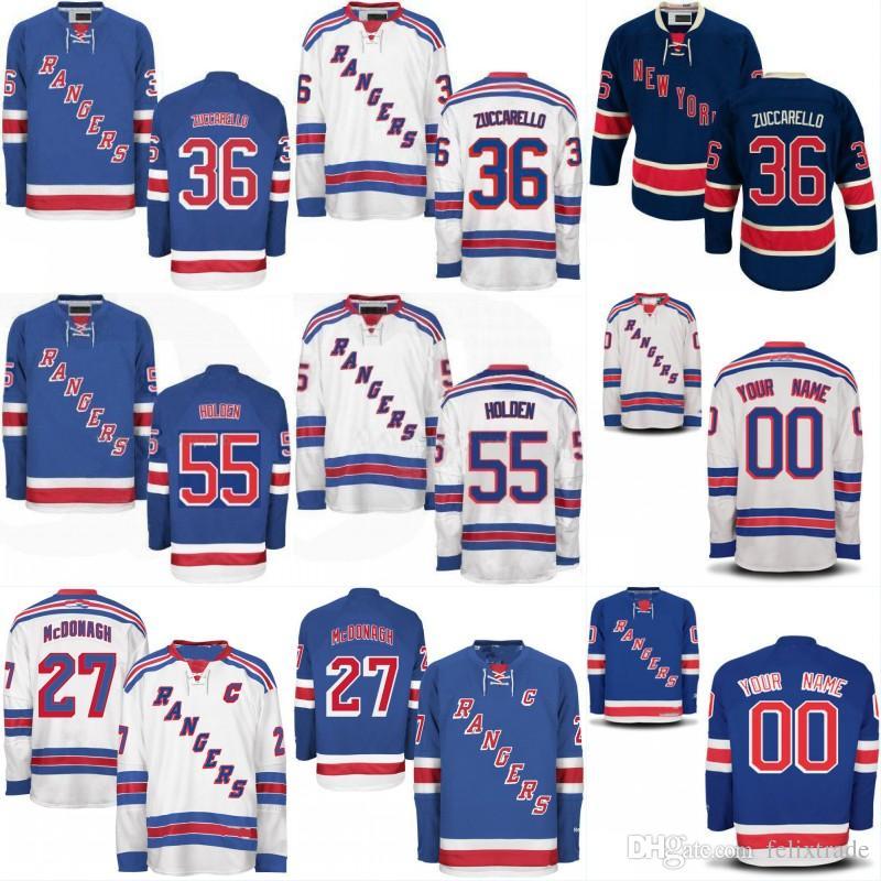 Mens New York Rangers Custom Jersey 36 Mats Zuccarello 55 Nick Holden Cheap  47 Steven Kampfer 27 Ryan McDonagh Stiched Hockey Jerseys New York Rangers  ... 5beaf62e9