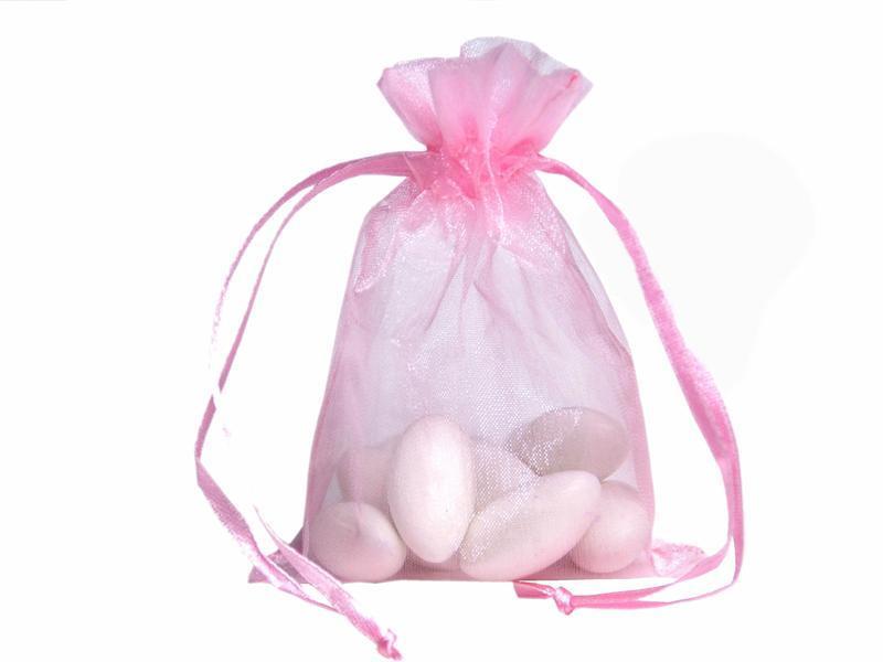Bolsas de embalaje de organza 100 piezas Bolsas de joyería Favores de boda Fiesta de Navidad Bolsa de regalo 9 x 12 cm 3,6 x 4,7 pulgadas