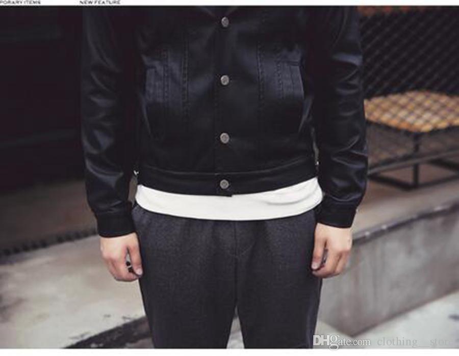 Avrupa Bahar Erkekler rahat moda yeni düşük-ince tasarım kısa deri ceket ceket Kore versiyonu / M-2XL