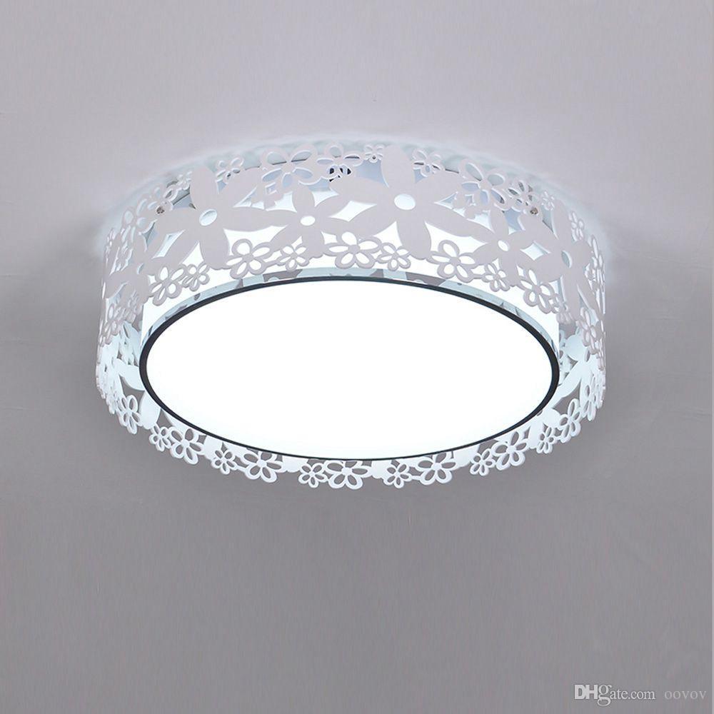 OOVOV Acrylique Creux Princesse Chambre Plafonnier Chambre D enfant Chambre  Balcon Entrée Fleur Plafonnier Lampe Lumière