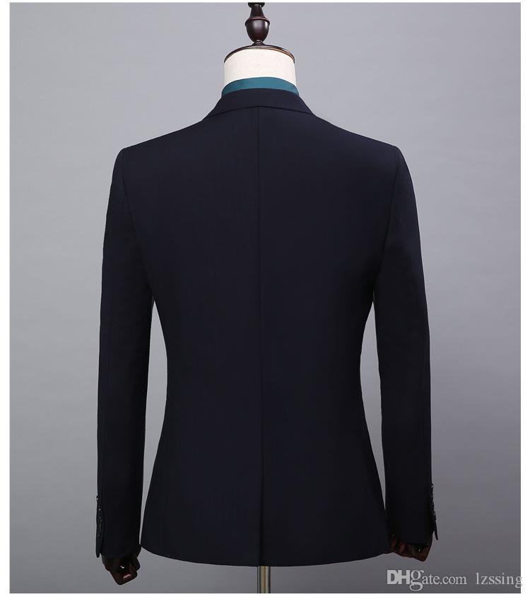 Plain Design Black Business Formal Dress Man Suit Wedding Suits Pictures for Men Cheap Wholesale L-52042