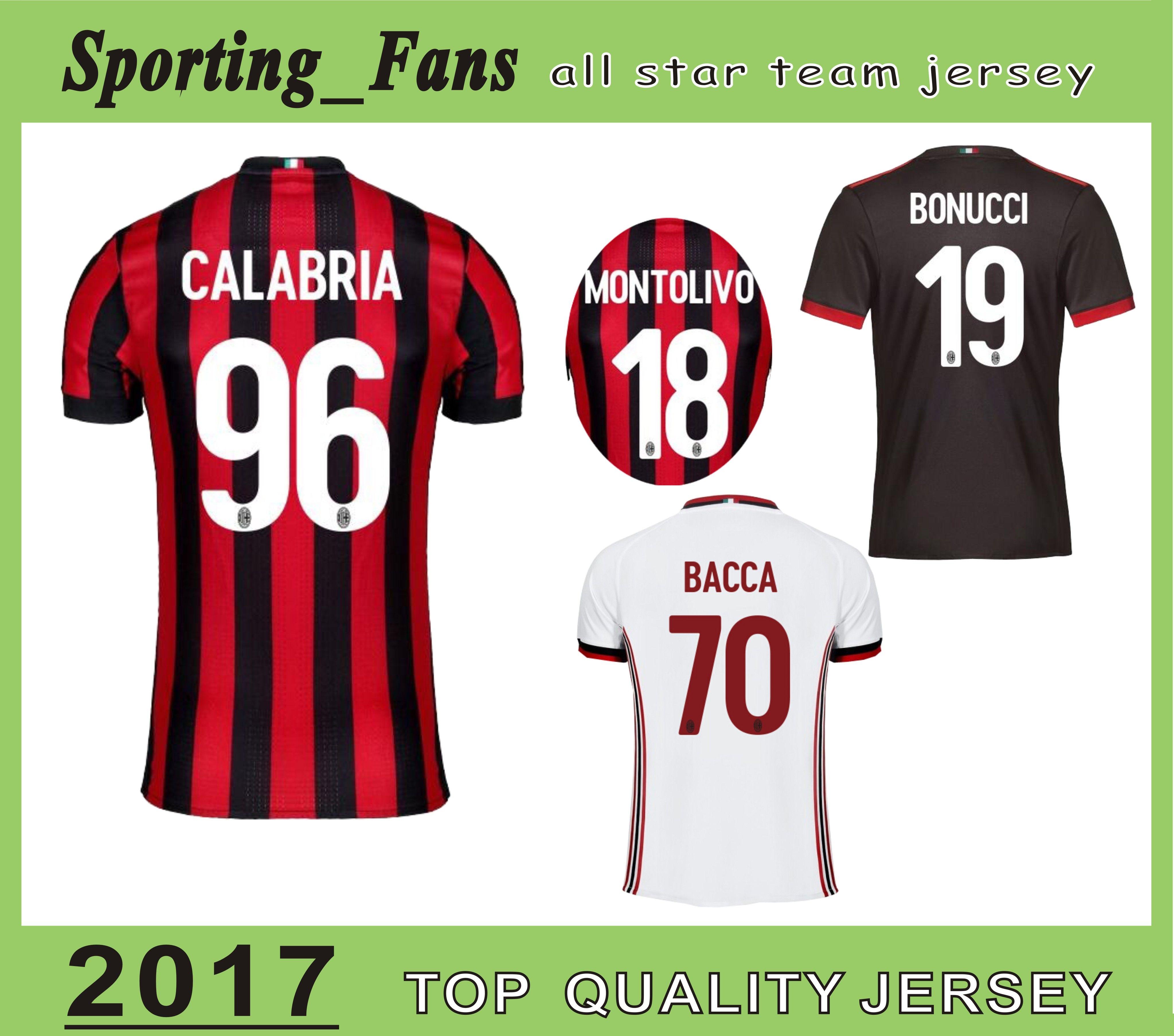2019 Big Size S 4XL17 18 BACCA Soccer Jerseys MONOTOLIVO Football Tshirt DE  SCIGLIO Bonaventura POLI Suso LAPADULA Calabria Camisa Jersey From  Sporting fans ... c0861e289