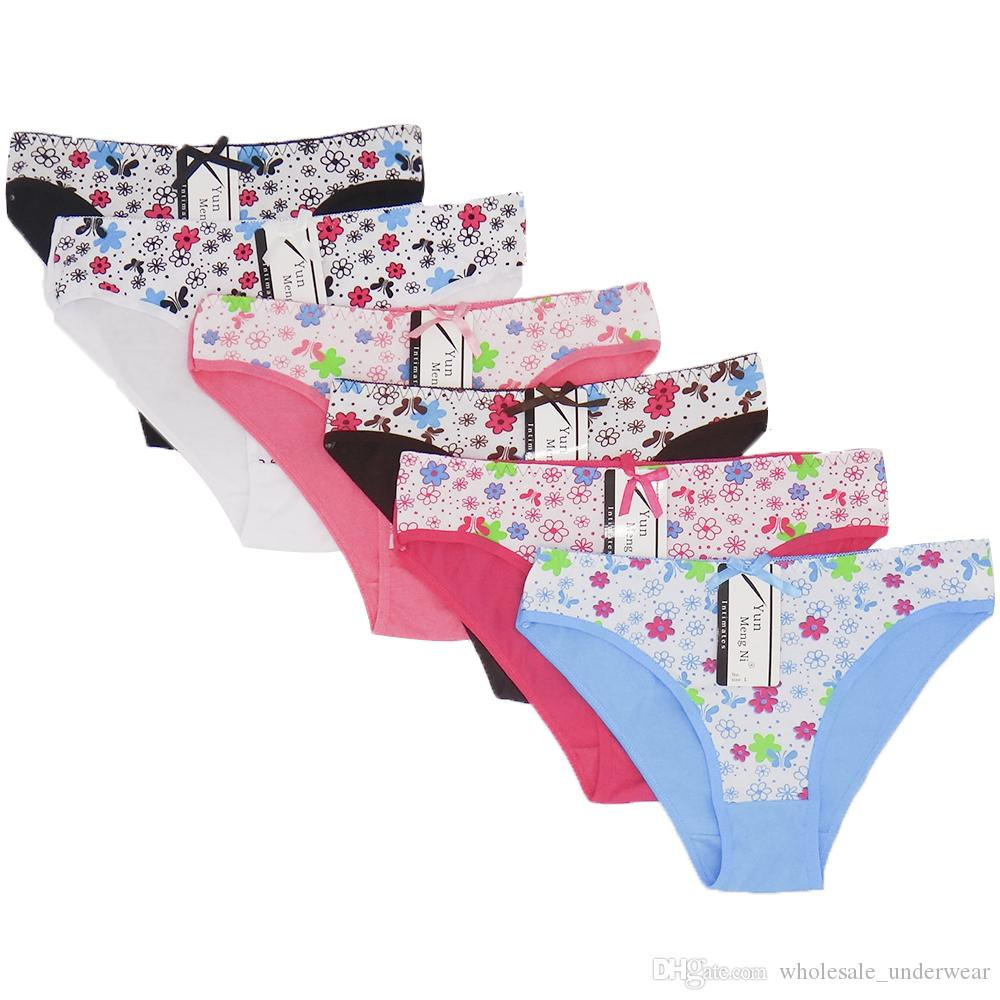 92ef95b0ecd5 SFlora Print Cotton Lady Bikini Panties Women Underwear Hot Girl Brief Sexy  Lingerie Size M L XL22.04-25.2 Wholesale Underpants Intimate Cotton Short  Brief ...
